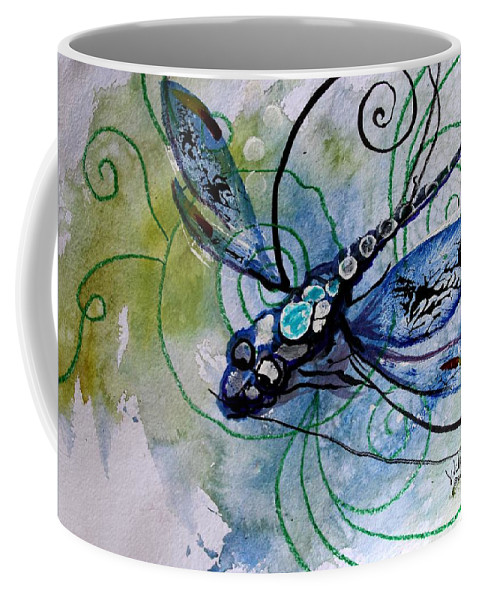 Abstract Dragonfly 10 Coffee Mug For Sale By J Vincent Scarpace