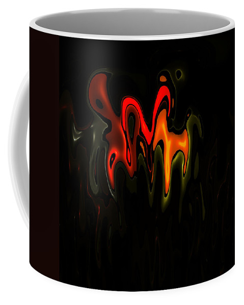 Art Digital Composition Fractal Color Colorful Expressionism Impressionism Coffee Mug featuring the digital art Abstract Fractals Melting 2 by Steve K