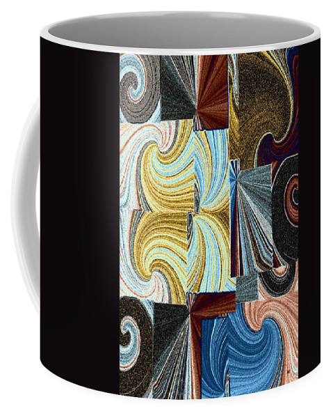 Abstract Fusion Coffee Mug featuring the digital art Abstract Fusion 45 by Will Borden