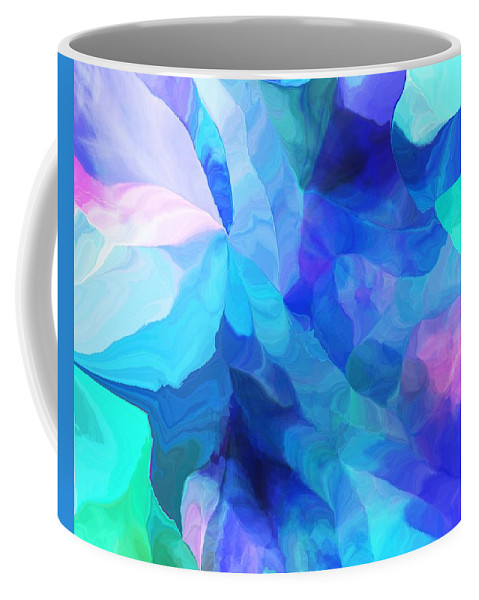 Fine Art Coffee Mug featuring the digital art Abstract In Blues 052612 by David Lane