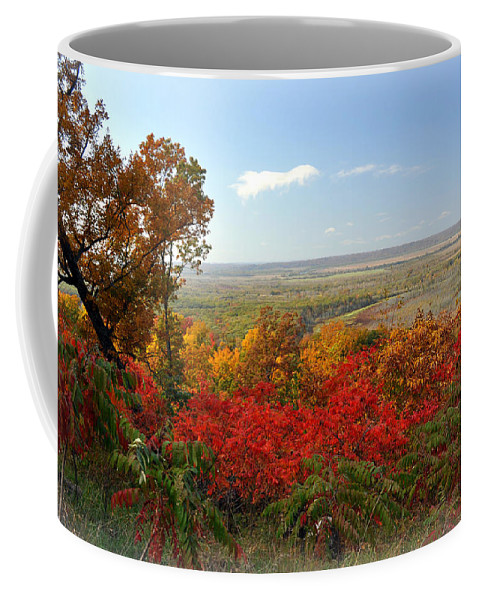 Fall Colors Coffee Mug featuring the photograph Across The Big Muddy by Marty Koch