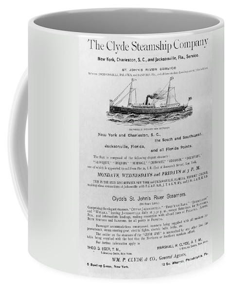 1851 Coffee Mug featuring the photograph Advertisement: Steamship by Granger