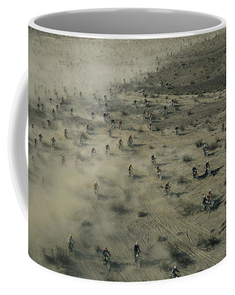 Scenes And Views Coffee Mug featuring the photograph Aerial View Of Hundreds by Walter Meayers Edwards