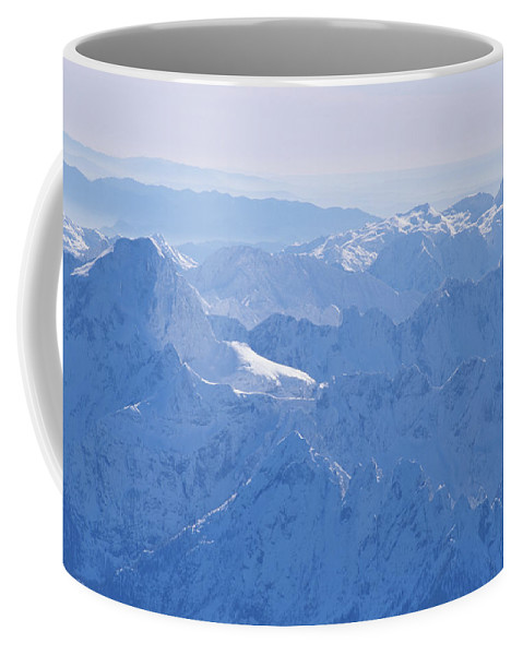 Geography Coffee Mug featuring the photograph Aerial View Of The Snow-covered Julian by Carsten Peter
