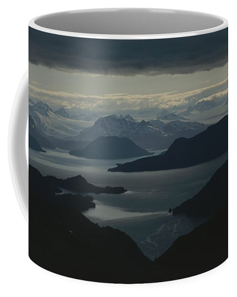 Pacific Ocean Coffee Mug featuring the photograph Aerial View Of The Sound by Karen Kasmauski