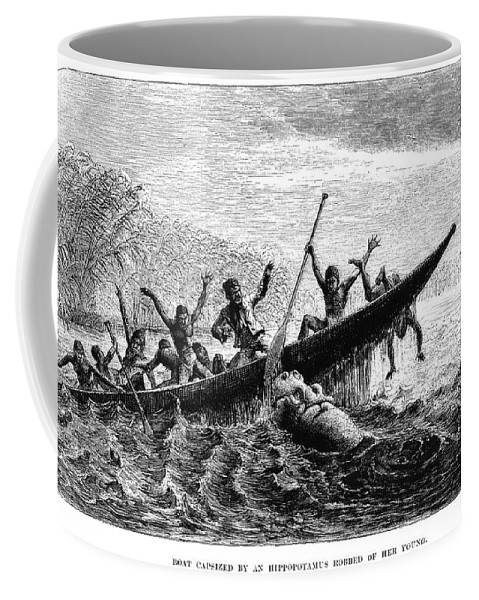 1857 Coffee Mug featuring the photograph Africa: Exploration by Granger