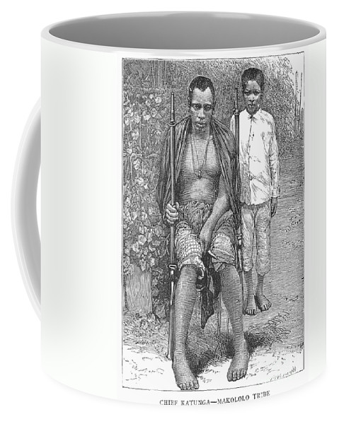 1889 Coffee Mug featuring the photograph Africa: Makololo Chief by Granger