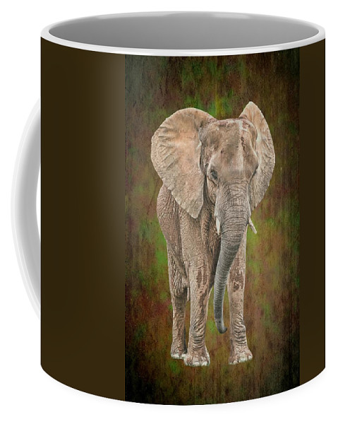 Isolated Coffee Mug featuring the photograph African Elephant by Rudy Umans