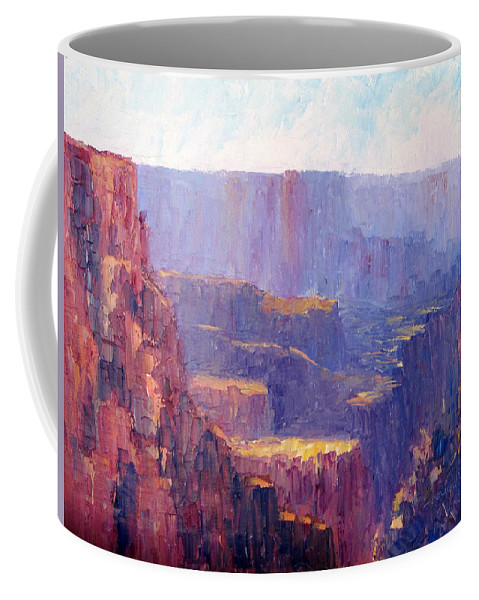 Grand Canyon Coffee Mug featuring the painting Afternoon In The Canyon by Terry Chacon