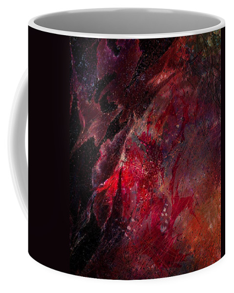Abstract Coffee Mug featuring the digital art Against A Wire by Rachel Christine Nowicki