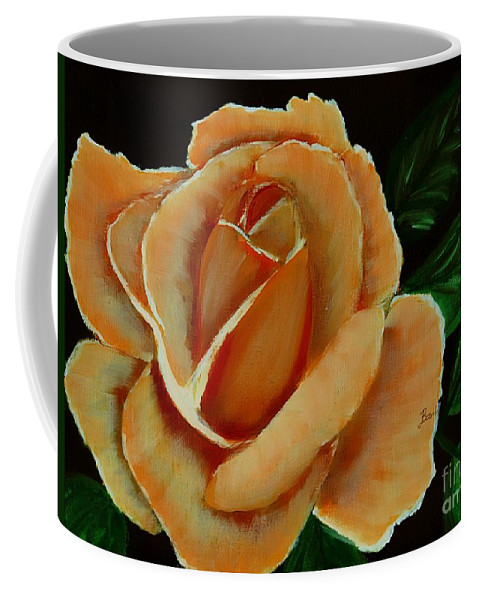 Airbrushed Coral Rose Coffee Mug featuring the digital art Airbrushed Coral Rose by Barbara Griffin