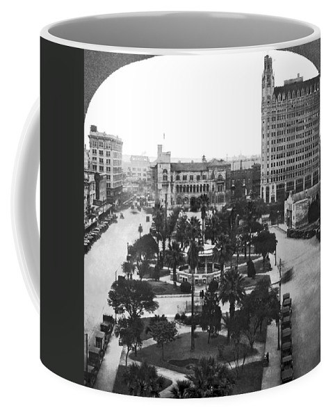 1910's Coffee Mug featuring the photograph Alamo Plaza In San Antonio by Underwood Archives
