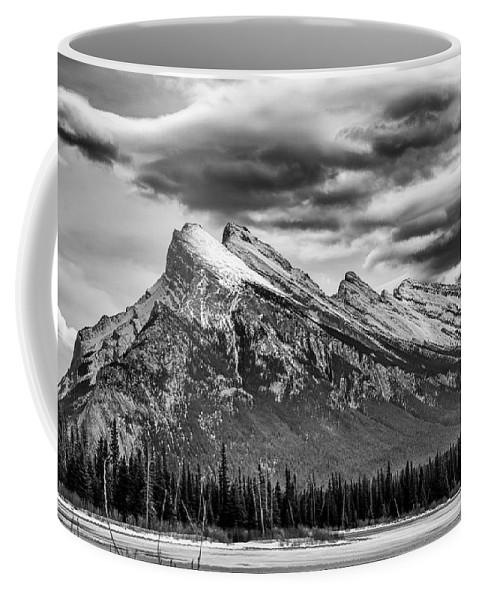 Alberta Coffee Mug featuring the photograph Alberta Rockies by Guy Whiteley