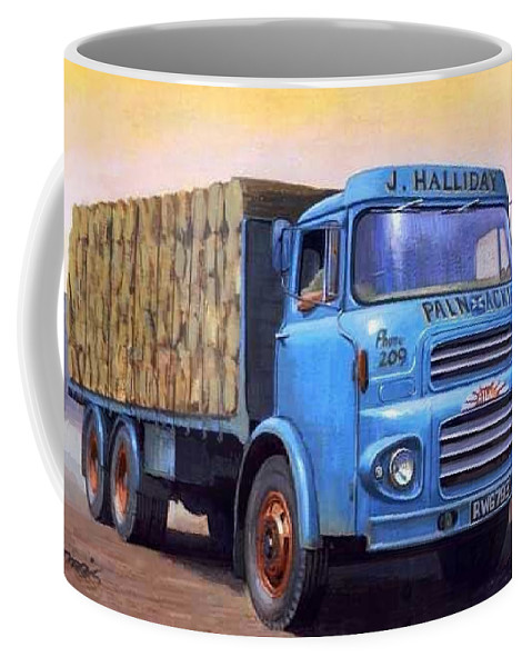 Art For Investment Coffee Mug featuring the painting Albion Cydesdale by Mike Jeffries