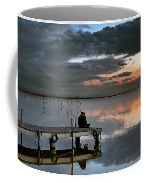 Albufera Lagoon Coffee Mug featuring the photograph Albufera. Couple. Valencia. Spain by Juan Carlos Ferro Duque