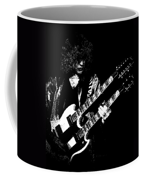 Rush Coffee Mug featuring the photograph Doubleneck Sketch 1978 by Ben Upham