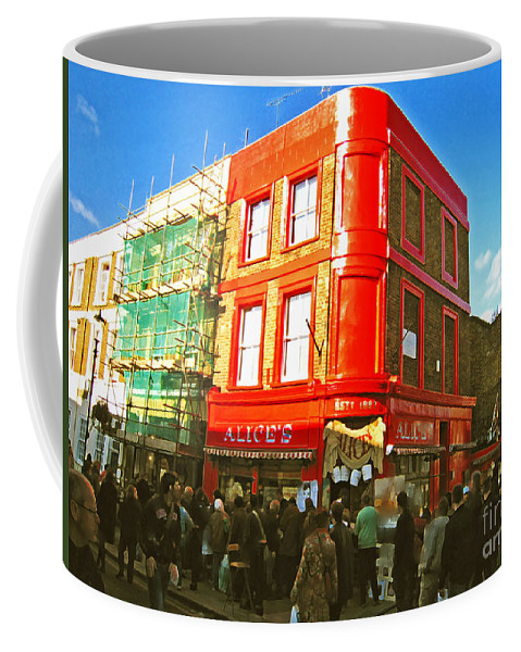 Nottinghill Coffee Mug featuring the photograph Alice's - London by Madeline Ellis