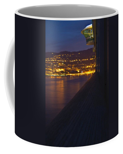 Alien Coffee Mug featuring the photograph Alien Spacecraft Over Villefranche by Richard Henne