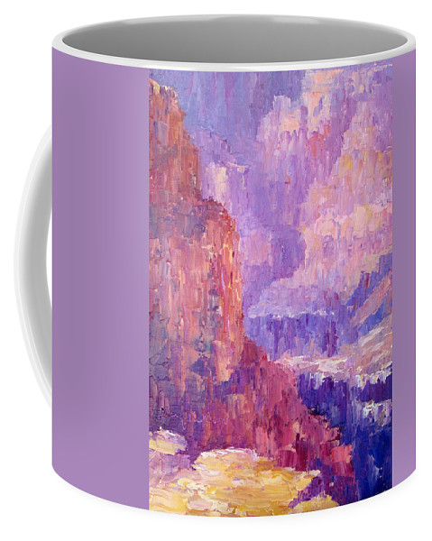 Grand Canyon Coffee Mug featuring the painting All Canyon by Terry Chacon