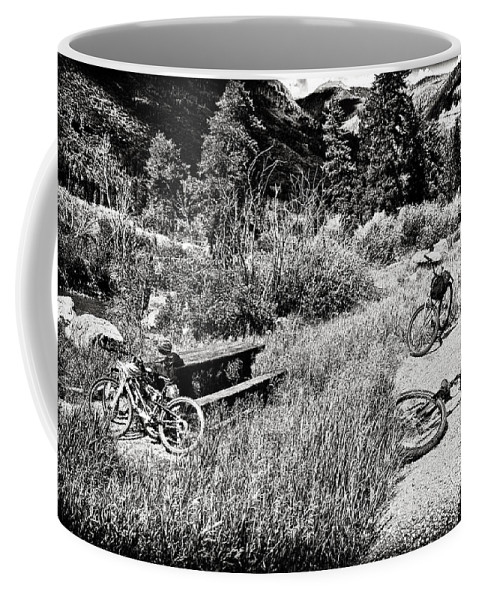 Bike Coffee Mug featuring the photograph All Fall Down by Madeline Ellis