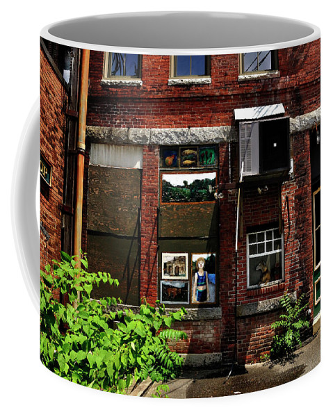 Alley Life And Art Coffee Mug featuring the photograph Alley Life And Art by Mark Valentine