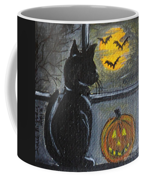 Halloween Coffee Mug featuring the painting Almost Midnight by Julie Brugh Riffey