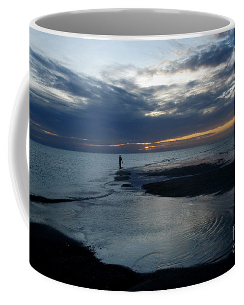 Sea Coffee Mug featuring the photograph Alone by Antoni Halim