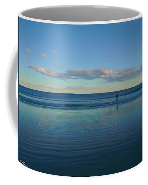 Beach Coffee Mug featuring the photograph Alone With The Sea by Nancy Griswold