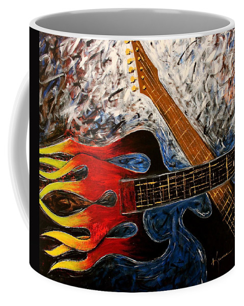 Always About Music Coffee Mug featuring the painting Always About Music by Kume Bryant