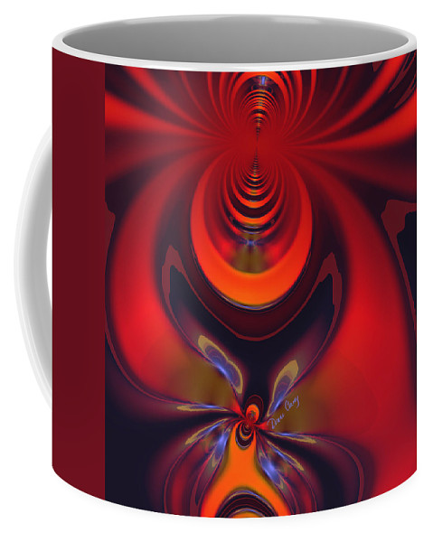 Colorful Coffee Mug featuring the digital art Amber Goddess by Diane Clancy