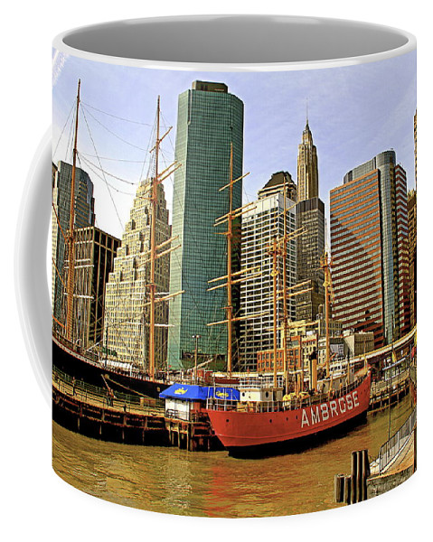 Ambrose Ship New York Water Waterfront Seaport Coffee Mug featuring the photograph Ambrose by Alice Gipson