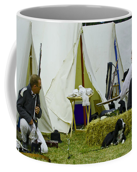 War Coffee Mug featuring the photograph American Camp by JT Lewis