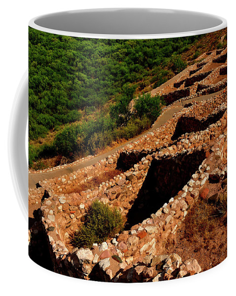 American Indian Patterns Of Living Coffee Mug featuring the photograph American Indian Patterns Of Living - Greeting Card by Mark Valentine