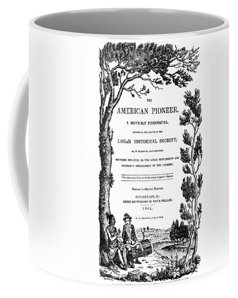 1842 Coffee Mug featuring the photograph American Pioneer, 1842 by Granger