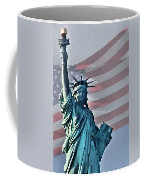 Statue Of Liberty Coffee Mug featuring the photograph American Pride by Kristin Elmquist