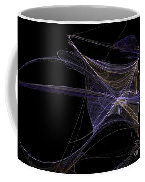 Angel Coffee Mug featuring the digital art Amethyst Angel Rising by Vicki Lynn Sodora