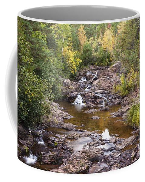 Amity Coffee Mug featuring the photograph Amity Creek Autumn 2 by John Brueske