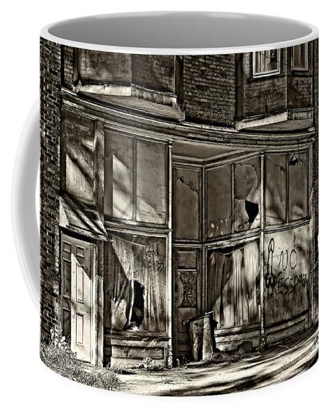 West Virginia Coffee Mug featuring the photograph An Economic Tale Sepia by Steve Harrington