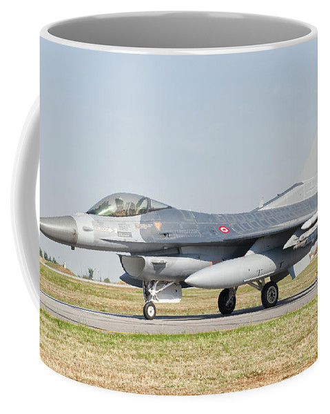 Transportation Coffee Mug featuring the photograph An F-16c Block 50 Of The Turkish Air by Giovanni Colla