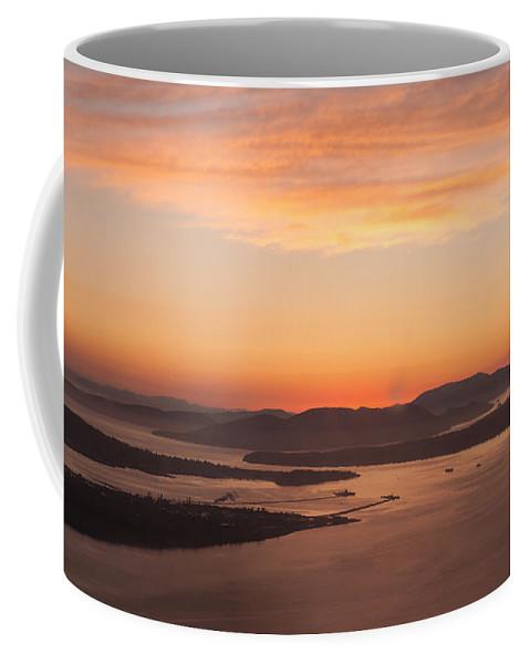 San Juan Islands Coffee Mug featuring the photograph Anacortes Islands Sunset by Mike Reid