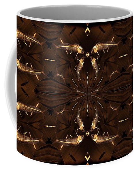 Fish Coffee Mug featuring the photograph Ancient Fish Bones by Donna Brown