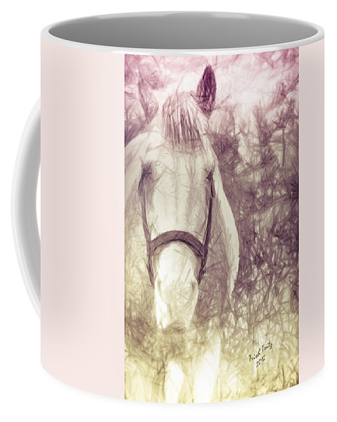 Horse Coffee Mug featuring the photograph Andre's Rainbow by Trish Tritz