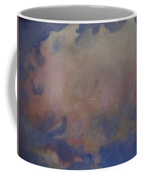 Pink Clouds Coffee Mug featuring the painting angel clouds I by Diane montana Jansson