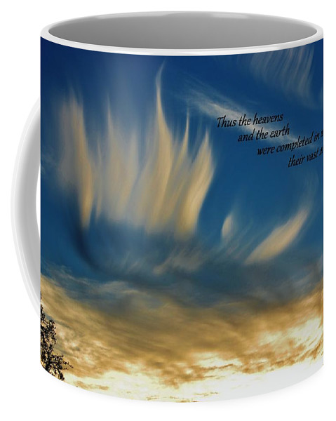 Scripture Coffee Mug featuring the photograph Angel Clouds by Tara Ellis