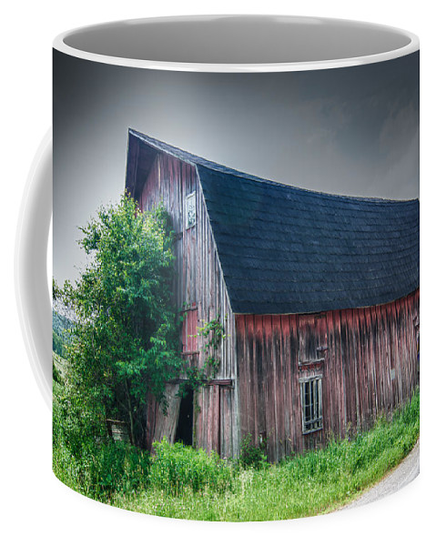 Angelica Coffee Mug featuring the photograph Angelica Barn In Hdr by Guy Whiteley