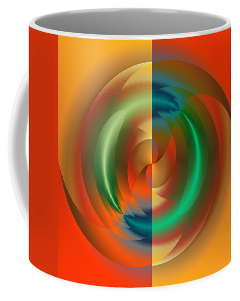 Abstract Coffee Mug featuring the digital art Angular Momentum by Mark Greenberg