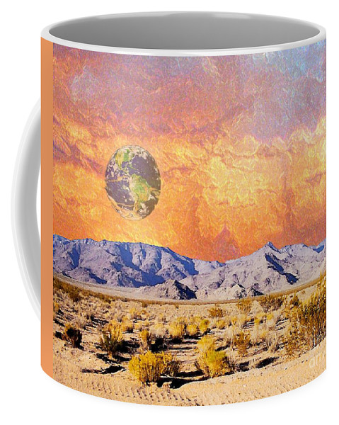 Earth Coffee Mug featuring the digital art California Dreaming by Lizi Beard-Ward