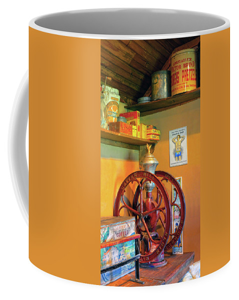 Coffee Mill Coffee Mug featuring the photograph Antique Coffee Mill by Dave Mills