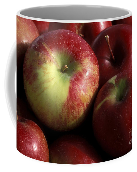 Macro Coffee Mug featuring the photograph Apples For Sale by Sandra Bronstein