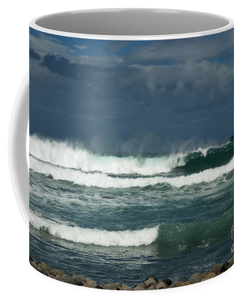Sandra Bronstein Coffee Mug featuring the photograph Approaching Storm In Maui by Sandra Bronstein